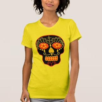 Cráneo negro del azúcar camisetas