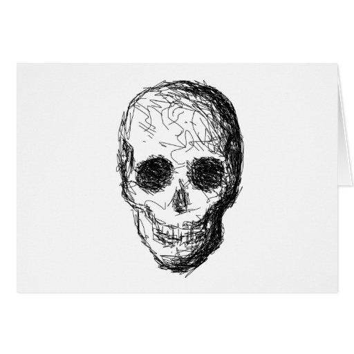 Cráneo negro felicitación