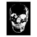 Cráneo negro - imagen negativa felicitaciones