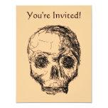 Cráneo negro Jawless Invitación 10,8 X 13,9 Cm