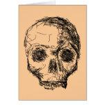 Cráneo negro Jawless Tarjeton