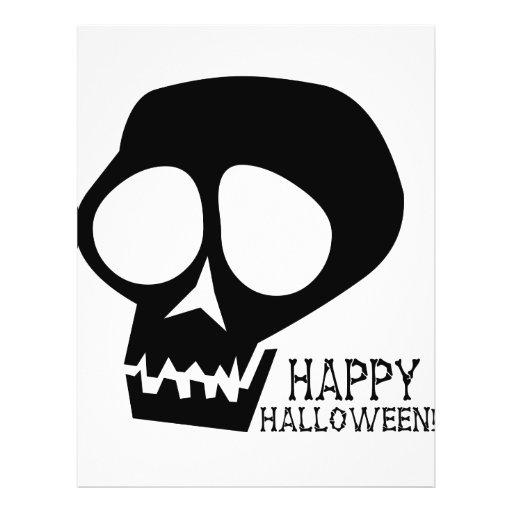"""Cráneo negro maravilloso - diseño del feliz Hallow Folleto 8.5"""" X 11"""""""