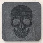 Cráneo negro posavaso