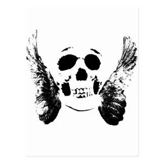 Cráneo negro postal
