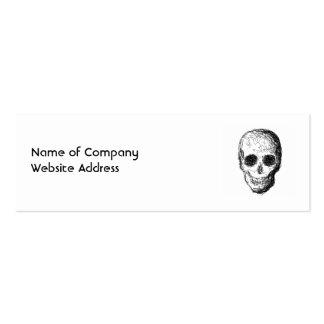 Cráneo negro tarjetas de negocios