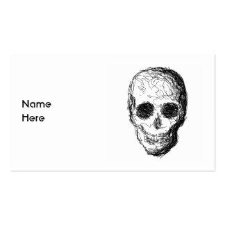 Cráneo negro tarjetas de visita