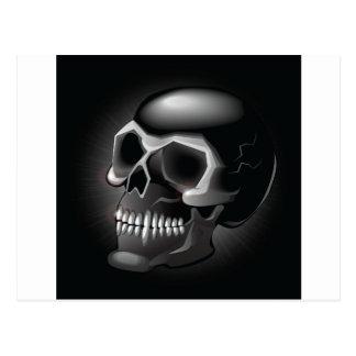 Cráneo negro tarjetas postales