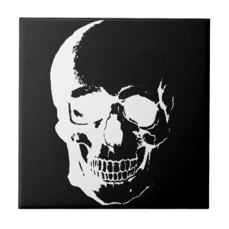 Cráneo negro y blanco azulejos