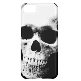 Cráneo negro y blanco carcasa para iPhone 5C