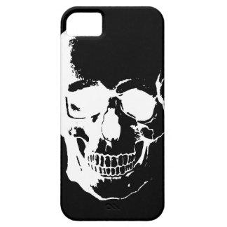 Cráneo negro y blanco iPhone 5 funda