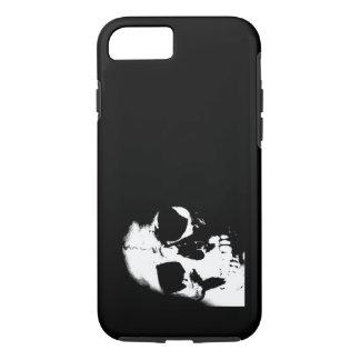 Cráneo negro y blanco funda iPhone 7