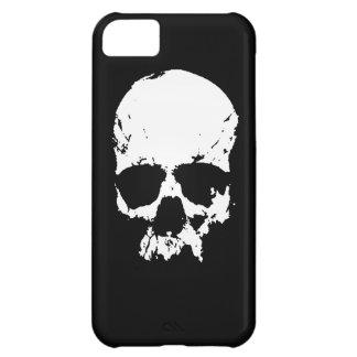 Cráneo negro y blanco funda para iPhone 5C