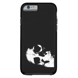 Cráneo negro y blanco funda para iPhone 6 tough