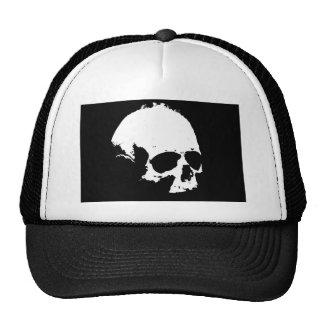 Cráneo negro y blanco gorra