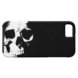 Cráneo negro y blanco iPhone 5 carcasa