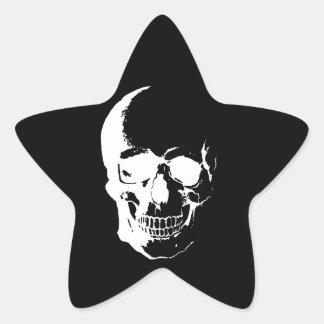 Cráneo negro y blanco colcomanias forma de estrellas