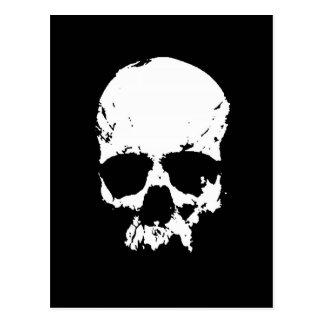 Cráneo negro y blanco postales