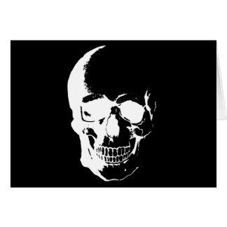 Cráneo negro y blanco tarjeta