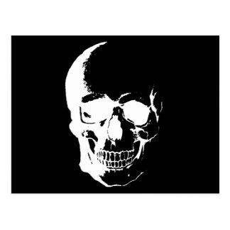 Cráneo negro y blanco tarjetas postales
