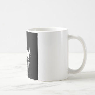 Cráneo negro y blanco tazas de café
