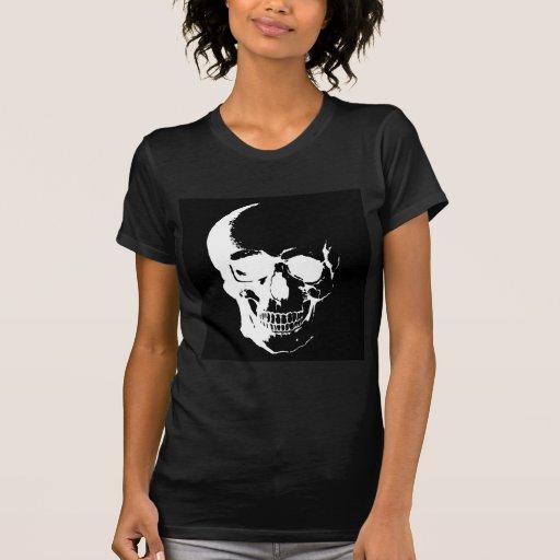 Cráneo negro y blanco tee shirt