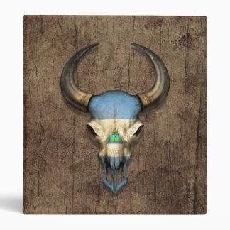 Cráneo nicaragüense de Bull de la bandera en el ef
