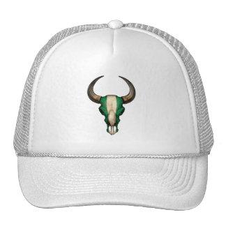 Cráneo nigeriano de Bull de la bandera Gorra