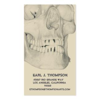 Cráneo o negocio o tarjeta de presentación de los tarjetas de visita