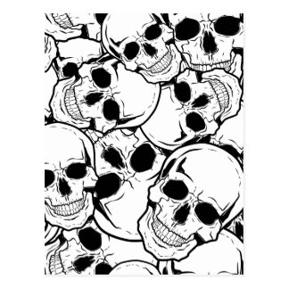 Cráneo oscilante tarjeta postal