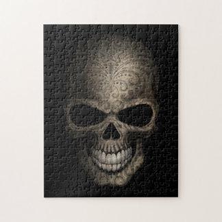 Cráneo oscuro adornado puzzles