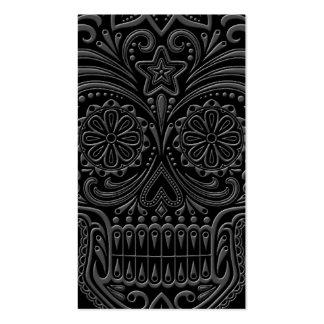 Cráneo oscuro complejo del azúcar tarjetas de visita