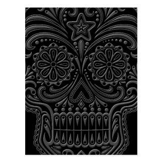 Cráneo oscuro complejo del azúcar tarjetas postales