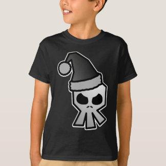 Cráneo oscuro de Papá Noel del gótico Playera