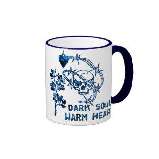 Cráneo oscuro del alma taza de café