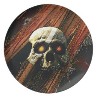Cráneo oscuro platos para fiestas