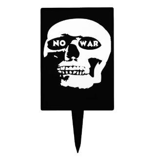 Cráneo pacifista figuras de tarta