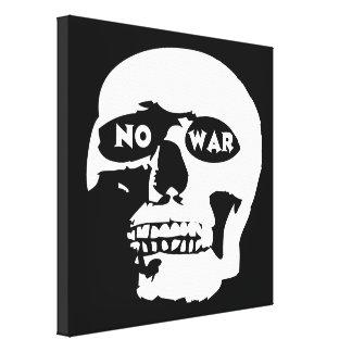 Cráneo pacifista impresion de lienzo