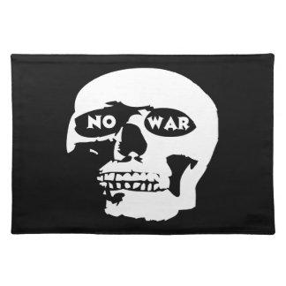 Cráneo pacifista manteles individuales