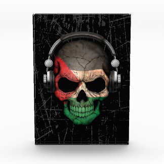 Cráneo palestino rasguñado de DJ con los