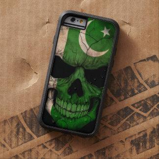 Cráneo paquistaní de la bandera en negro funda para  iPhone 6 tough xtreme
