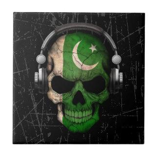Cráneo paquistaní rasguñado de DJ con los Tejas Cerámicas
