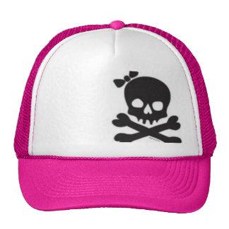 Cráneo para mujer y bandera pirata gorro