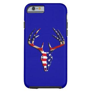 Cráneo patriótico de la caza de los ciervos