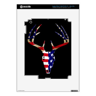Cráneo patriótico de la caza de los ciervos iPad 3 skins