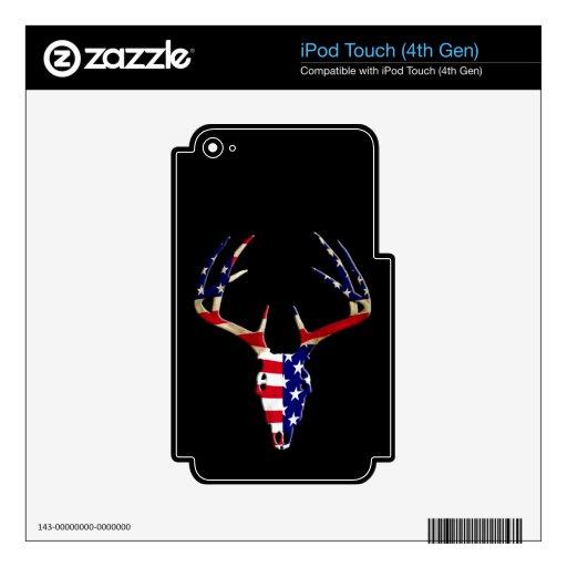 Cráneo patriótico de la caza de los ciervos skins para iPod touch 4G