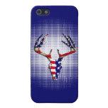 Cráneo patriótico de los ciervos iPhone 5 protector