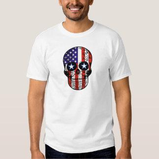 Cráneo patriótico del azúcar de la bandera camisas