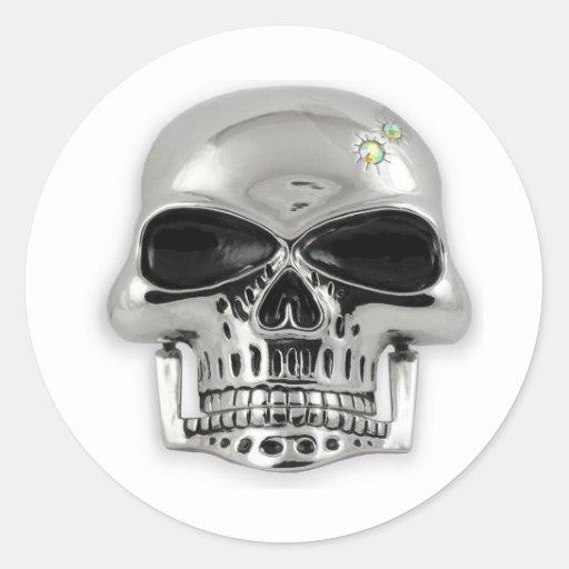 cráneo pegatina