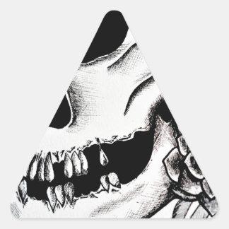 Cráneo Calcomania Trianguloada