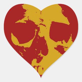 Cráneo Pegatina En Forma De Corazón